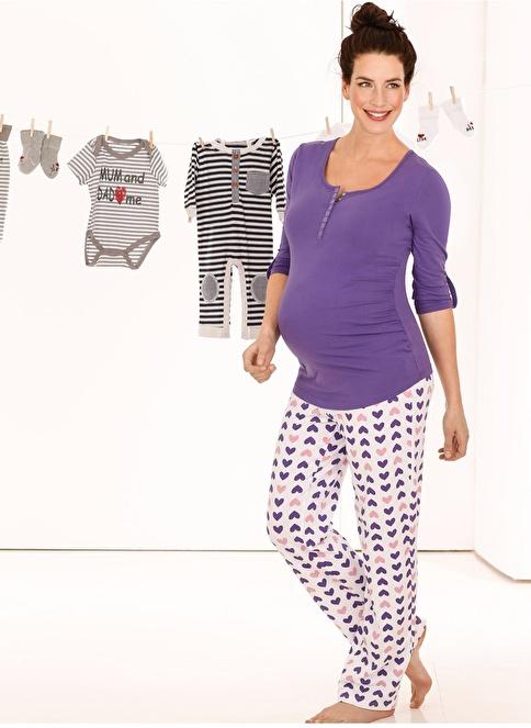 Bonprix Pijama Takım Lila